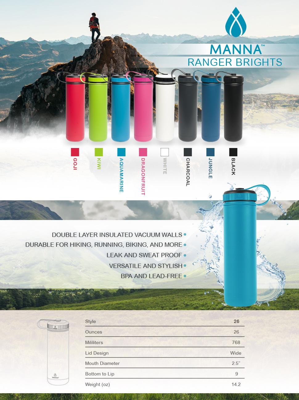 Amazon Com Manna Ranger 18 Oz Vacuum Insulated Stainless