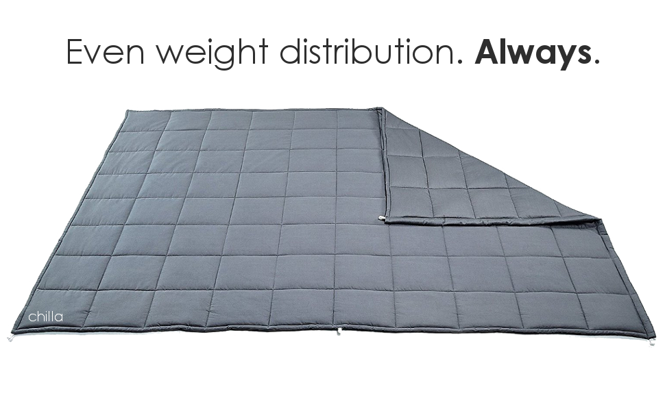 even weight distribution weight blanket no bunching
