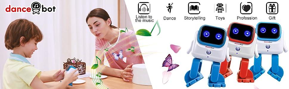 dancing robot bluetooth speaker