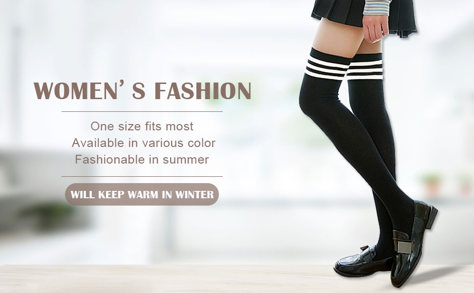 ee7cea811ee MUQU Womens Knit Knee-High Socks. Multiple colors to choose. Suitable for  most occasions in your daily life.