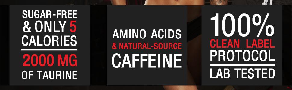 aminocuts caffeine bcaas clean label lab tested