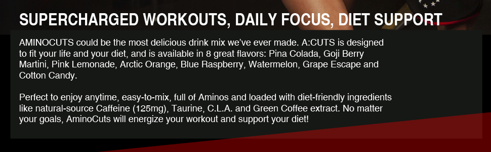 aminocuts bcaas supercharged workouts daily focus diet support