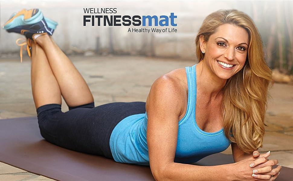 fitness mat comfort exercise pilates yoga stretching
