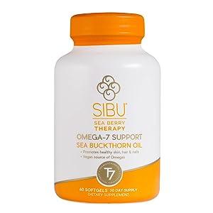 sibu seaberry omega 7 softgel bottle supplement