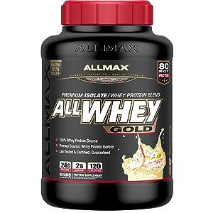 birthday cake whey protein allmax