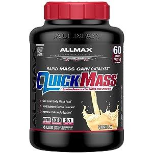 quickmass vanilla protein powder gain weight