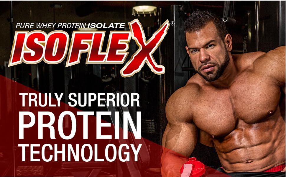 Isoflex superior whey protein isolate powder banner