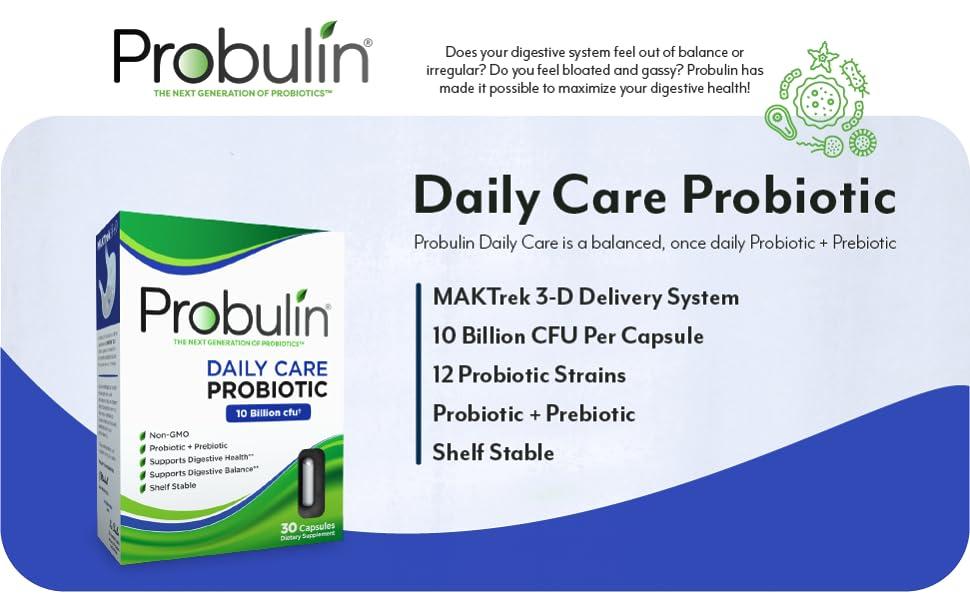 probulin probiotic daily care shelf stable prebiotic 10 billion