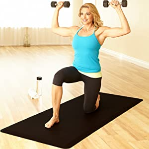 fitness mat comfort exercise stretching yoga weights