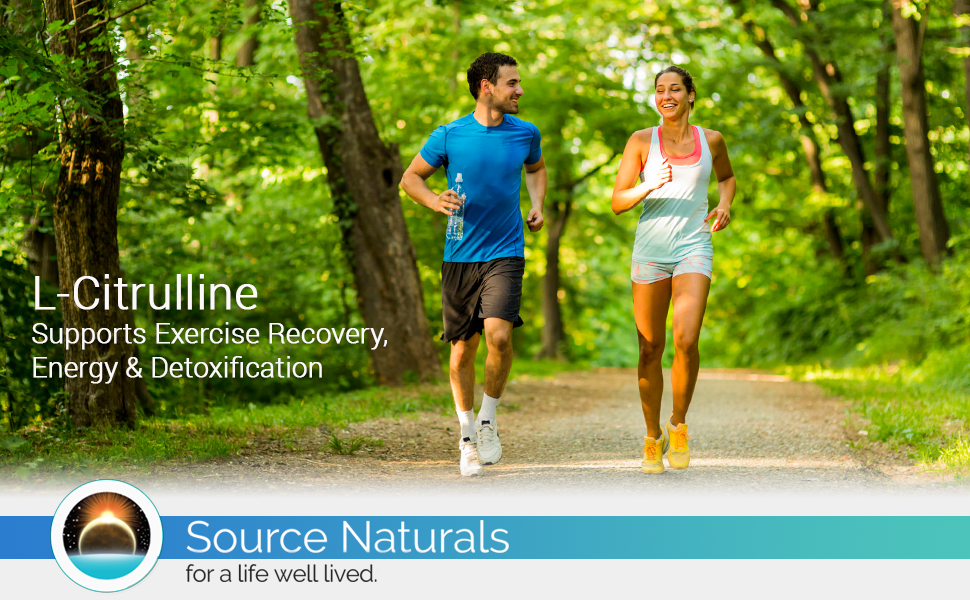 man woman running outside smiling l-citrulline exercise recovery energy and detoxification