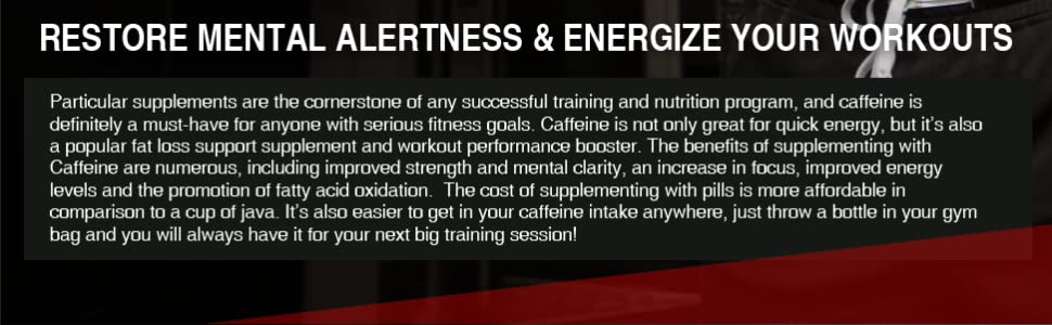 caffeine restore mental alertness and energize your workout