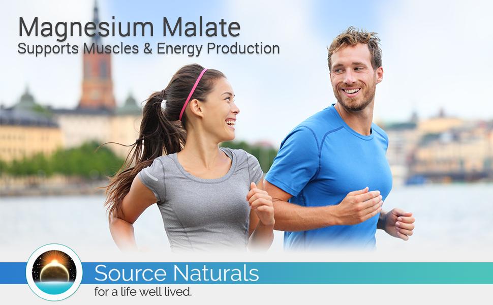 Source Naturals Magnesium Malate 1250mg Per Serving Essential Magnesium  Malic Acid
