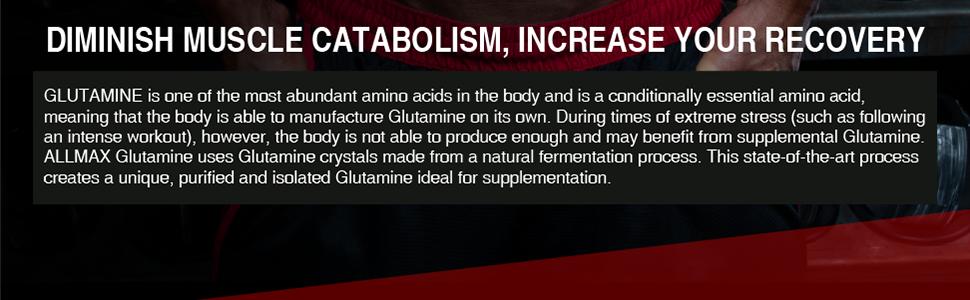 diminish muscle breakdown increase recovery glutamine amino acid