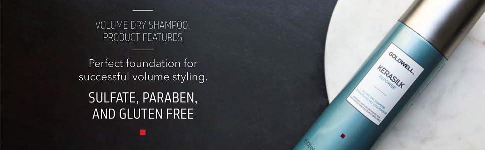 kerasilk volume repower dry shampoo sulfate paraben gluten free