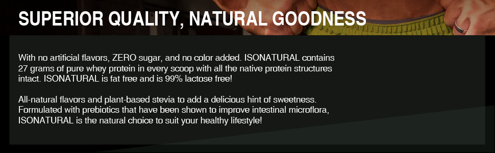 superior quality natural goodness protein stevia