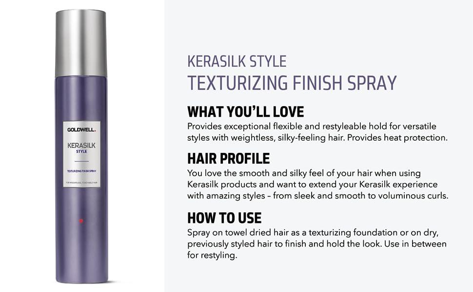 kerasilk style texturizing finish spray hair hairspray