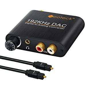 It Converts Coaxial or Toslink Digital Audio Signals to Analog L/R Audio and Connects to an External Device Such as an Amplifier via 3.5mm Headphone Cable