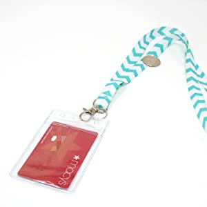 ECOHIP 4-Pack Lanyards for Women, Cute Lanyard with ID Holder, Name Badge Clips