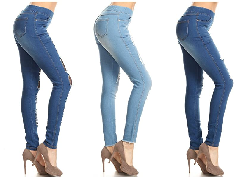 5926486bbe3b7 You'll love the all-day comfort of these women's pull on skinny denim  jeggings