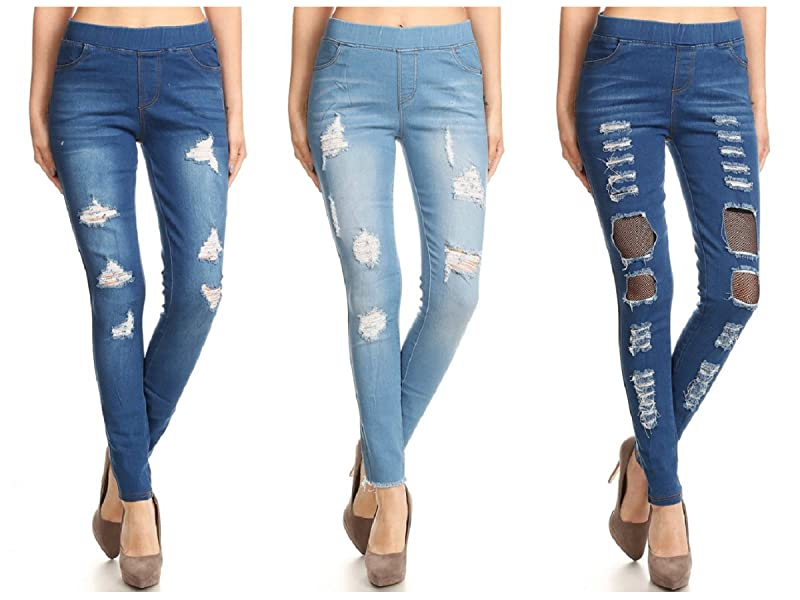 BLUE JEANS  JEGGINS LEGGINGS GREAT WITH BAGGY TOP SIZES    12//14  14//16