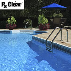 Rx Clear chemicals leads to crystal clear swimming pool water for a more pleasurable swim
