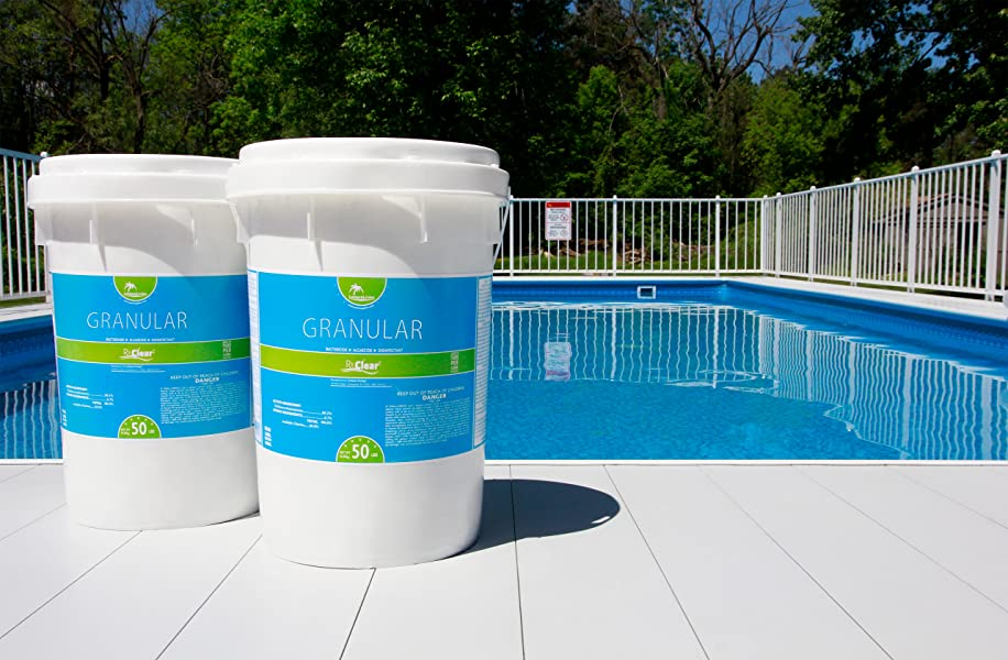 Rx Clear Stabilized Granular Chlorine Two 50 Pound Bucket Use As Bactericide