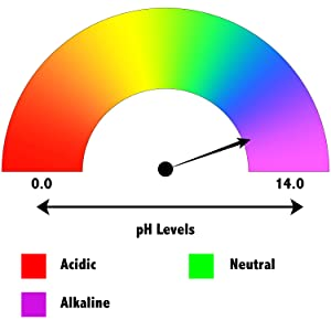 Mega Shock has a pH of 11 making this an ideal shock when chlorine levels and pH level are both down