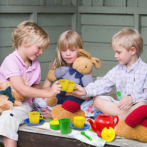 tea party pretend play plastic tea set