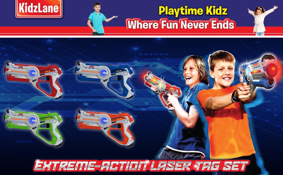 Kidzlane Infrared Laser Tag Game Mega Pack Set Of 4