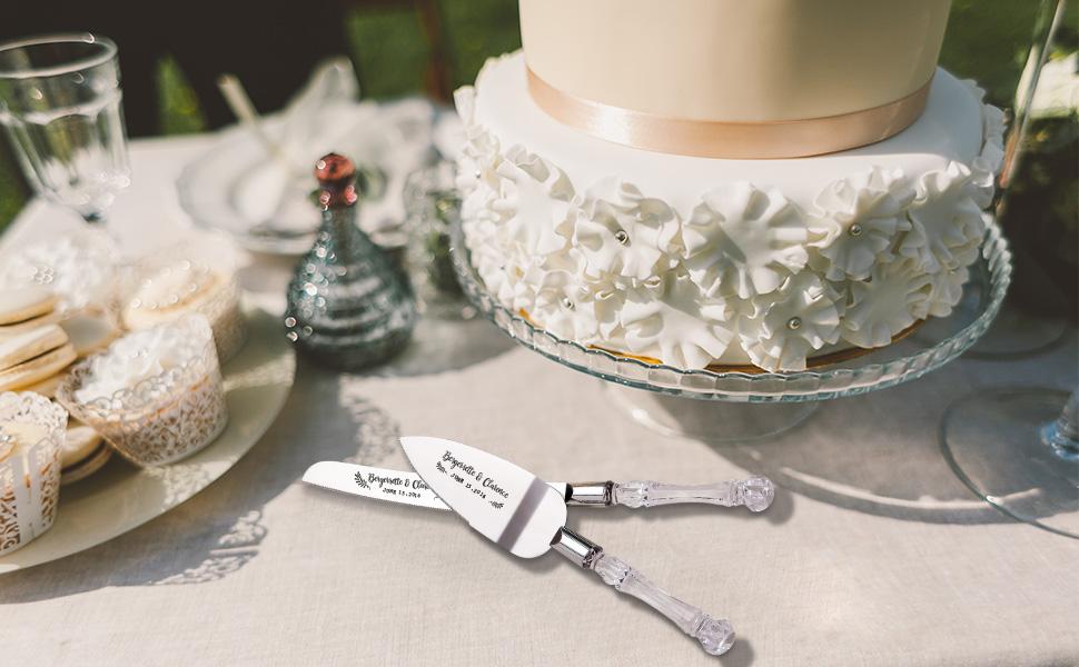 cake knife and server set