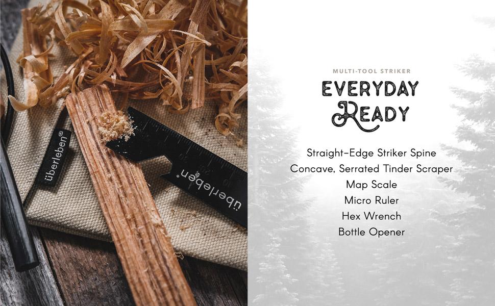 uberleben zunden, fire starter, fire striker, fire sparker, outdoor camping gear, survival gear