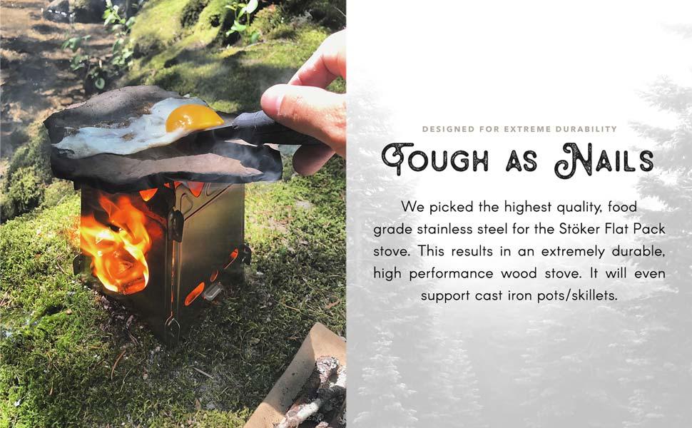 Uberleben, stoker, modern firecraft, flatpack stove, outdoor stove, camping stove