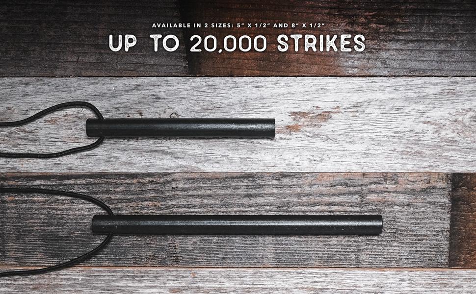 "3//8/"" or 1//2/"" Thick Bushcraft Fire Steel with Handcrafted Wood Handle 12,000-20,000 Strikes Neck Lanyard 5//16/"" Traditional Survival Ferro Rod /überleben Z/ünden Fire Starter"