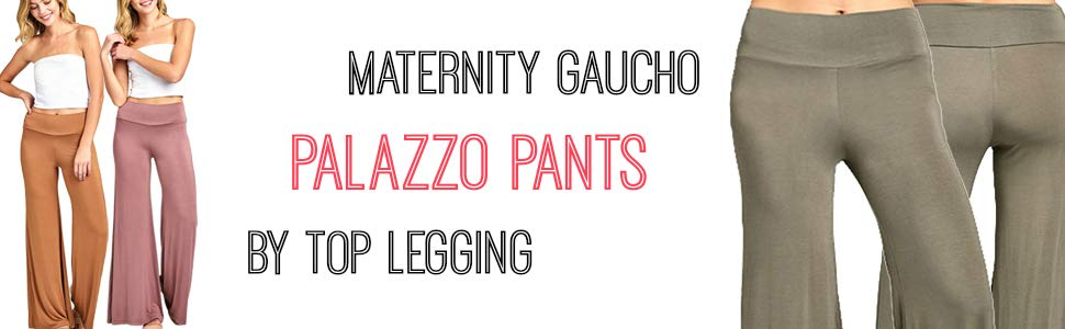 b2d8be21a5559 Great Gaucho Pants featuring Stretch Fit & Wide Leg Silhouette Solid Palazzo  Pants are Made in USA