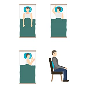 Camping pillow positions