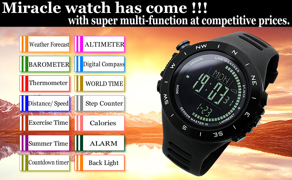 Altimeter Calorie Watch
