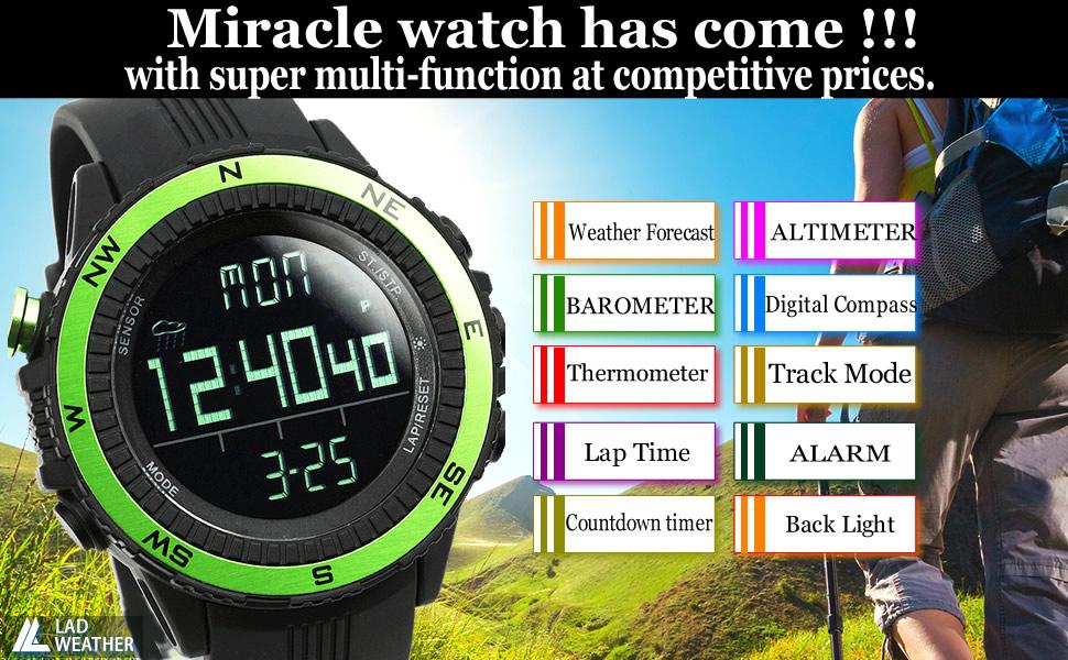 Altimeter Digital-Compass Climbing Watch