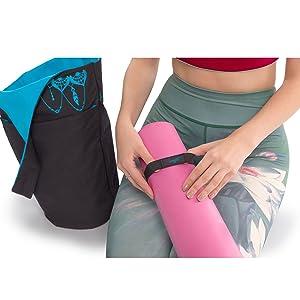 Yoga may bag, yoga mat, elastic strap