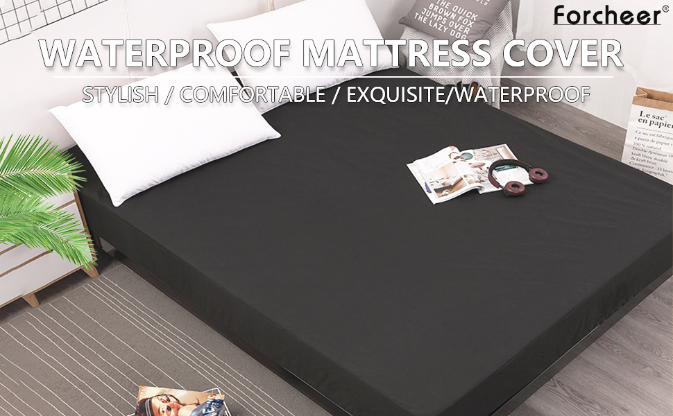 Flamingos Printed Mattress Pad Cover Bed Mattress Protector Waterproof Mattress Covers Anti-mite Moisture Proof Bed Cover Attractive Appearance Mattress Covers & Grippers