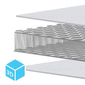 3D duplex hexagon air mesh fabric
