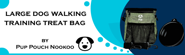 Header Large Dog Walking Training Treat Bag Pup Pouch Nookoo