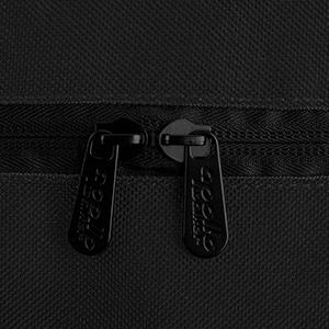 Double metal zippers