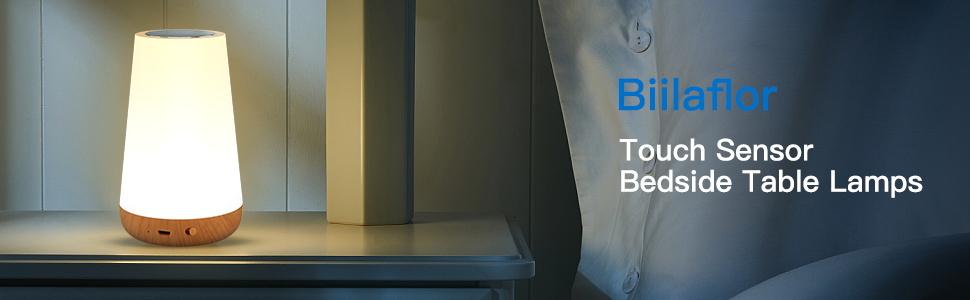 Biilaflor Touch Sensor Beside Table Lamps