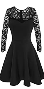 Long sleeve little black cocktail dress by Sylvestidoso