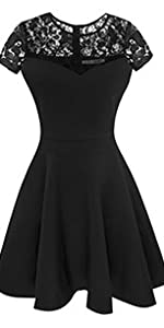 Classic short sleeve little black cocktail dress by Sylvestidoso