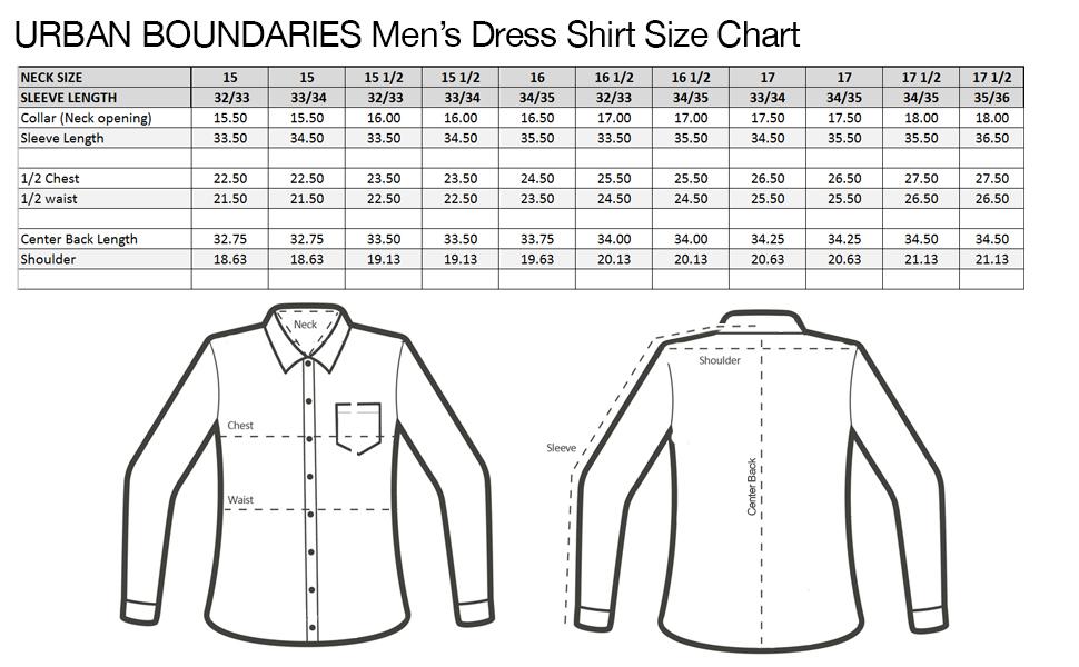 Urban Boundaries Mens Button Down Point Collar Black White Dress Shirts