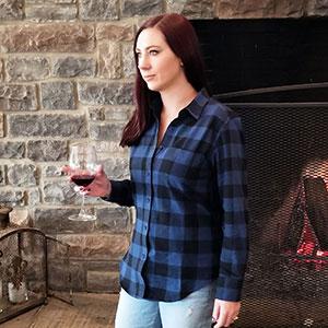 3a3b80101c5a76 Urban Boundaries Womens Buffalo Plaid Long Sleeve Flannel Shirt at ...