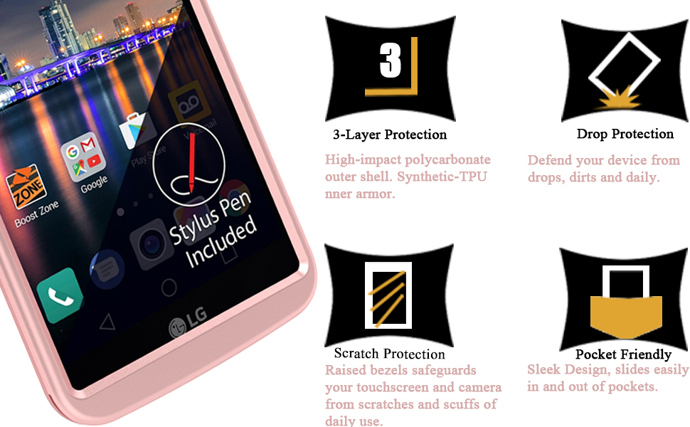 Amazon.com: LG Stylo 3 Caso, LG Stylo 3 Plus Caso, enquan ...