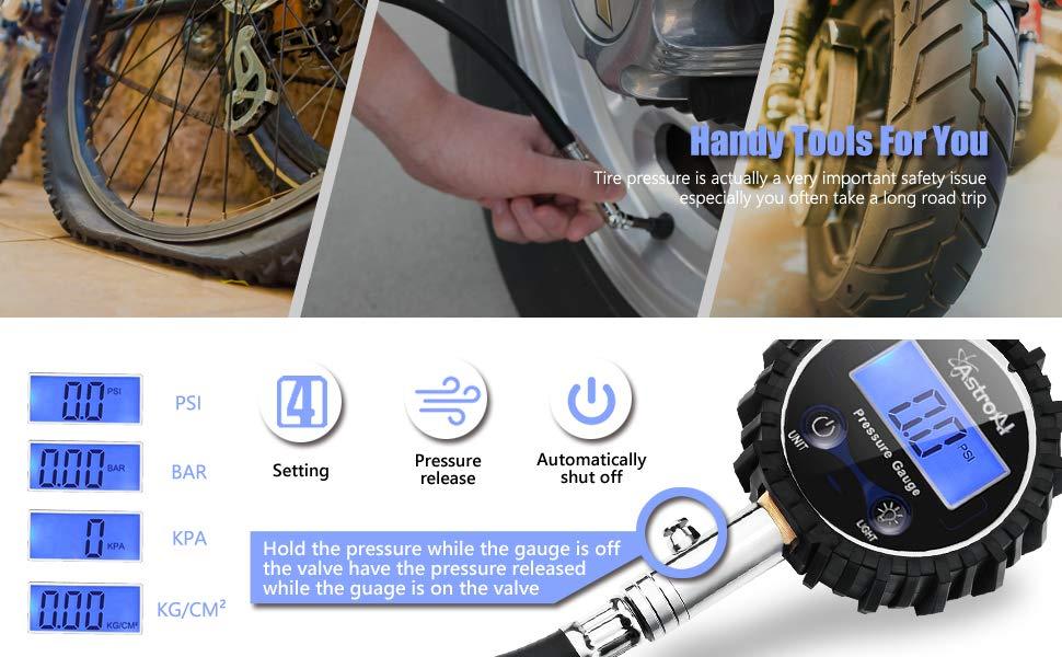 Amazon Com Astroai Atg230 Digital Tire Pressure Gauge 230 Psi 4