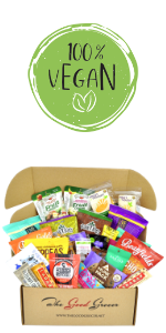 vegan snacks care package healthy snack box variety college gift easter christmas valentine's